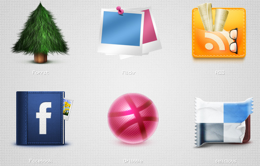 Socializic, free detailed social media icons