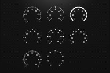 Car Style Speedometers Set