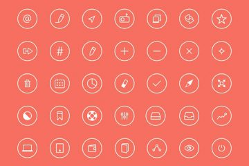 Thin Rounded Icons #2