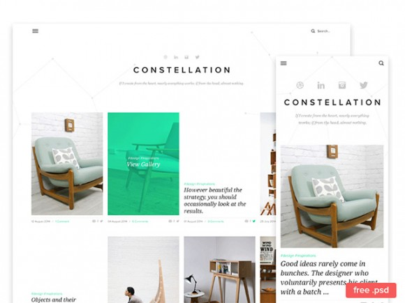 PSD Template for Tumblr
