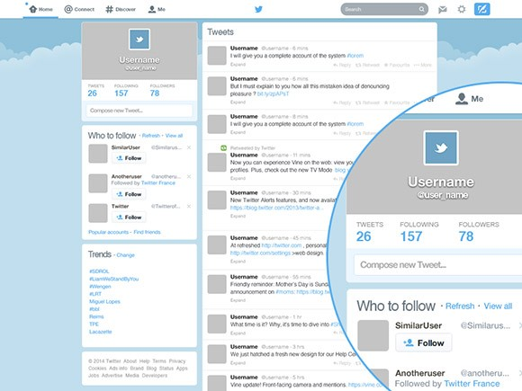 Twitter GUI Redesigned