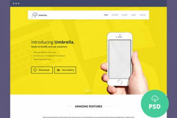 Umbrella One Page Website Template