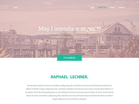 Variety Website Template in PSD