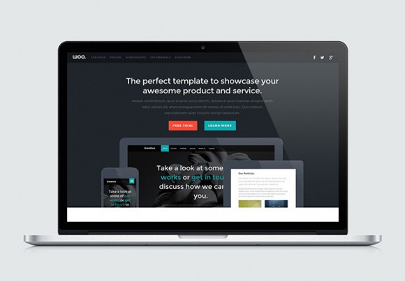 Woo Landing Page HTML Template